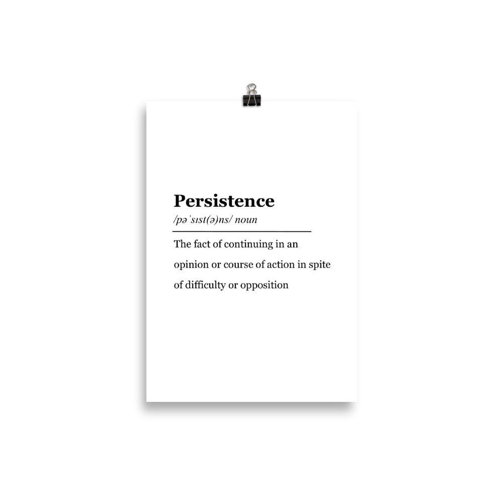 Persistence - Insposters