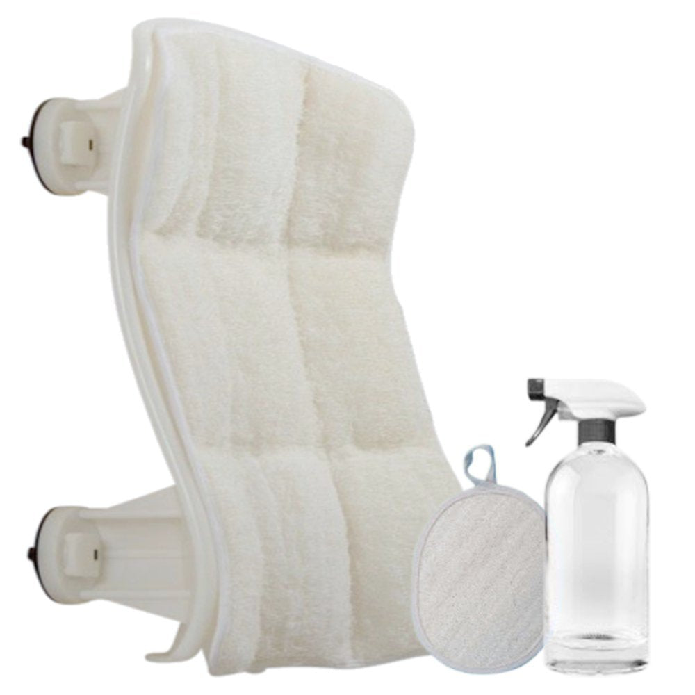 Luffoliate – Exfoliating Hands-Free Shower Loofah Back Scrubber (20 x 12 Inches) Medium