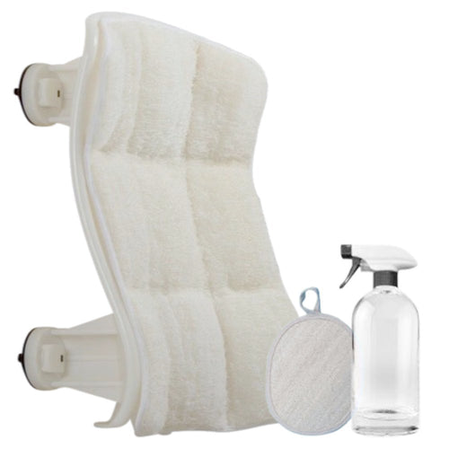 Luffoliate – Exfoliating Hands-Free Shower Loofah Back Scrubber (18.5 x 8.5 Inches) Small