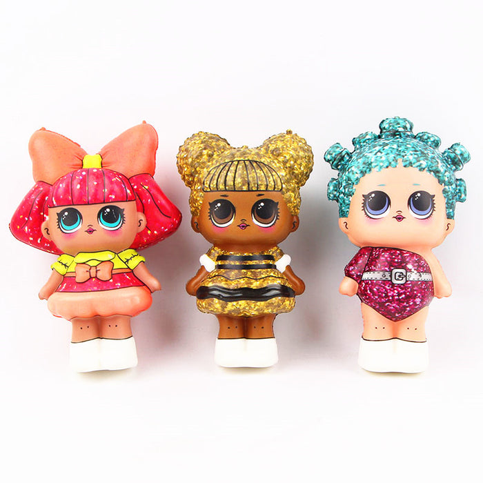 Silly Squishy - Kawaii Korean Japanese Mo Can slow rebound toy color printing LOL surprise doll accessories Squishy