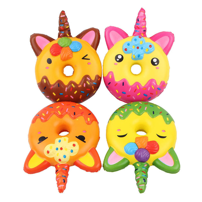 Silly Squishy - Kawaii Korean Japanese Unicorn Donut Slow Rebound Toy Simulation Dessert Decompression Squishy