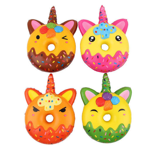 Kawaii Korean Japanese Unicorn Donut Slow Rebound Toy Simulation Dessert Decompression Squishy