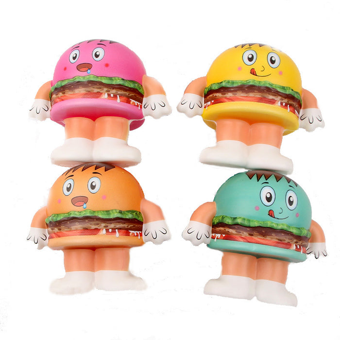 Silly Squishy - PU hamburger doll man Squishy
