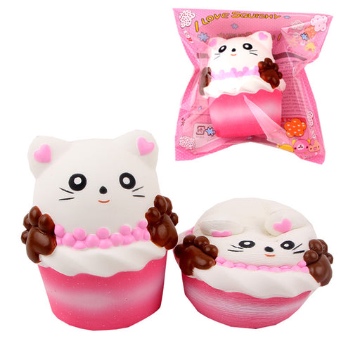 Silly Squishy - Kawaii Korean Japanese Slow Rebound Pink Cat Paw Coffee Cup Squishy