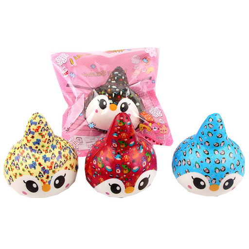 Silly Squishy - Kawaii Korean Japanese Slow Rebound Simulation Color Printing Unicorn Penguin Food Model Squishy