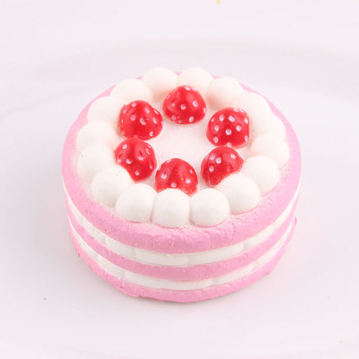 Kawaii Korean Japanese Small Strawberry Cake Pendant Squishy