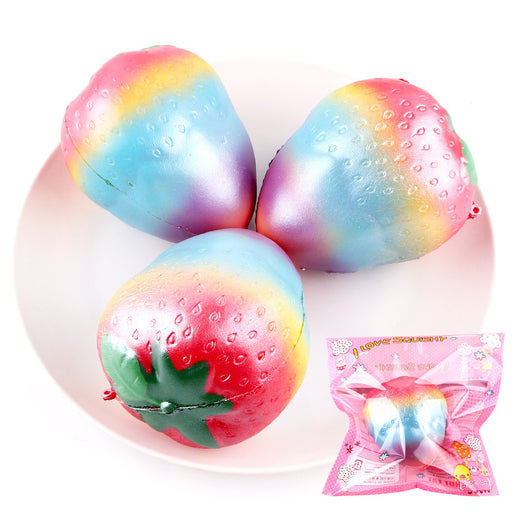 Silly Squishy - Kawaii Korean Japanese Slow Rebound Rainbow Strawberry Fruit Squishy