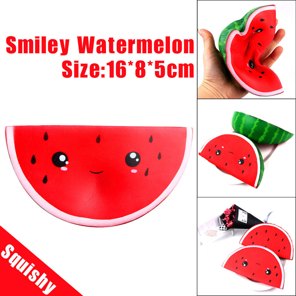 Silly Squishy - Slow bounce cartoon watermelon Squishy