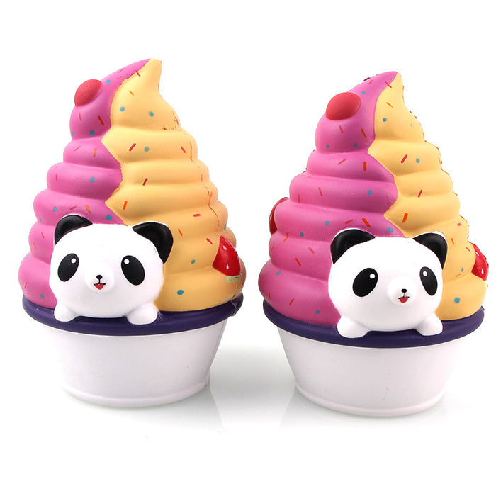 Silly Squishy - Kawaii Korean Japanese Slow Rebound Cross-Border Special Panda Ice Cream Squishy