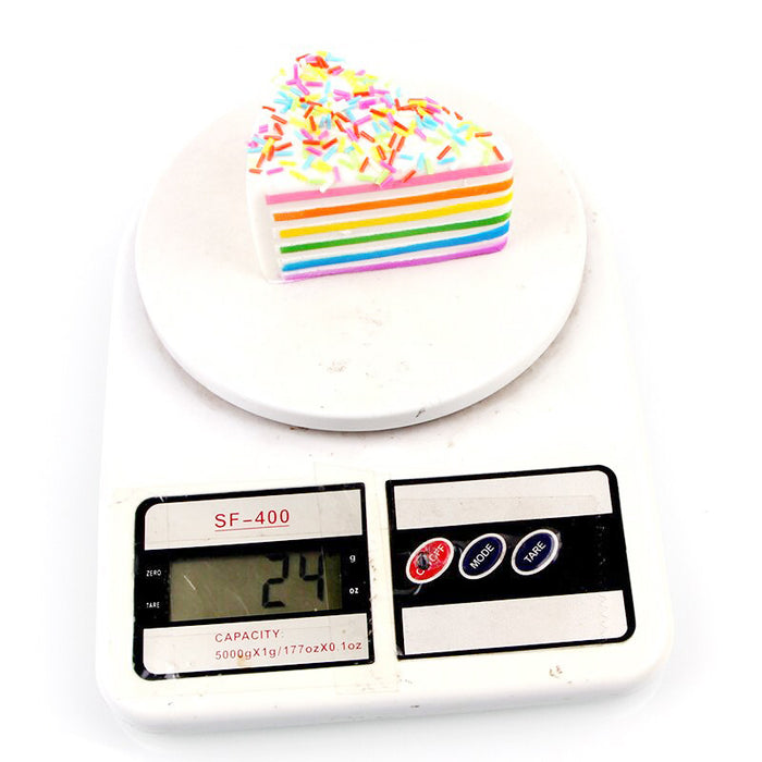 Silly Squishy - PU simulation small triangle color needle cake Squishy