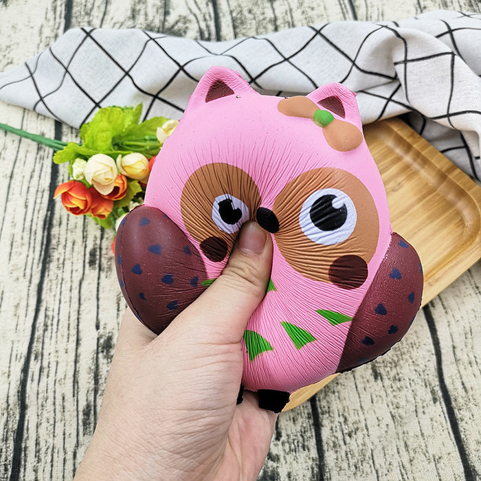 Silly Squishy - PU slow bounce Squishy owl with scented stress reliever toys for children