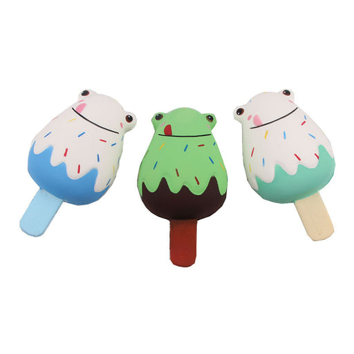 Kawaii Korean Japanese Frog ice cream photography props Squishy