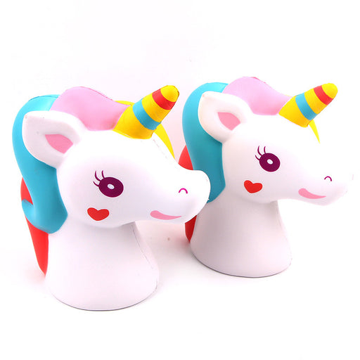 Silly Squishy - Kawaii Korean Japanese Slow Rebound Unicorn Horse Head Decorated Squishy