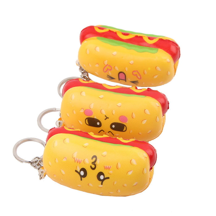 Silly Squishy - Kawaii Korean Japanese Little Hot Dog Delicious Keychain Squishy