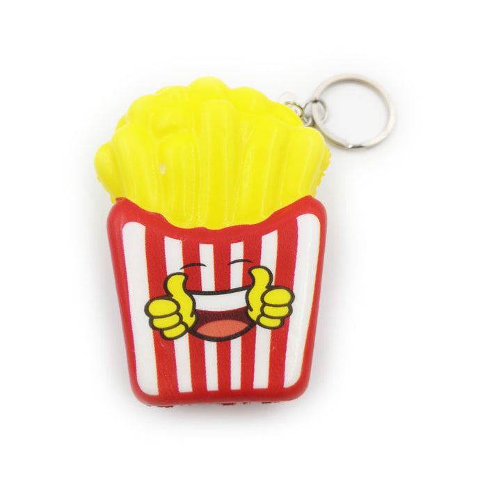 Silly Squishy - Expression chips slow play toy cartoon simulation food squishy pendant model
