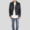 CLEMENT BLACK QUILTED LEATHER JACKET 2