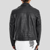 CLEMENT BLACK QUILTED LEATHER JACKET 3