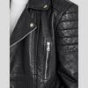 CLEMENT BLACK QUILTED LEATHER JACKET 4