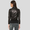 Adah Black Bomber Leather Jacket 2