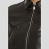 Adah Black Bomber Leather Jacket 5