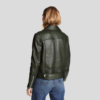 Benita Black Biker Leather Jacket 3