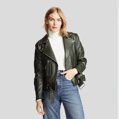 Benita Black Biker Leather Jacket 4