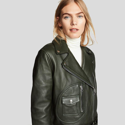 Benita Black Biker Leather Jacket 5