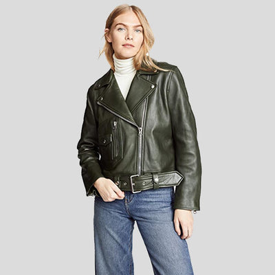 Benita Black Biker Leather Jacket 1
