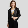Cameron Black Biker Leather Jacket 2