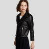 Cameron Black Biker Leather Jacket 4
