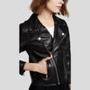 Cameron Black Biker Leather Jacket 5
