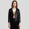 Cameron Black Biker Leather Jacket 1