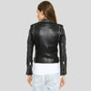 Carly Black Studded Leather Jacket 2