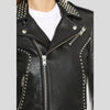 Carly Black Studded Leather Jacket 5