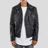 CLEMENT BLACK QUILTED LEATHER JACKET