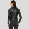 Harmoni Black Studded Leather Jacket 3