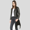 Harmoni Black Studded Leather Jacket 5