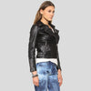kendra black motorcycle leather jacket 2