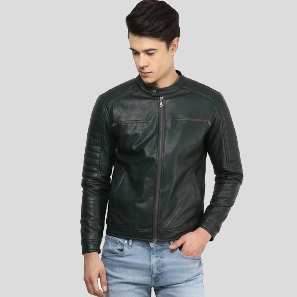 biker leather jacket abraham black 1