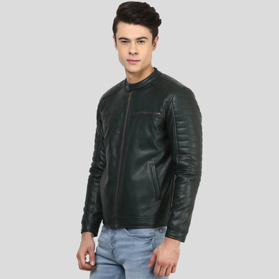 biker leather jacket abraham black 2