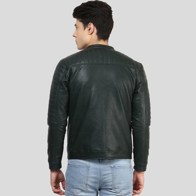 biker leather jacket abraham black 3