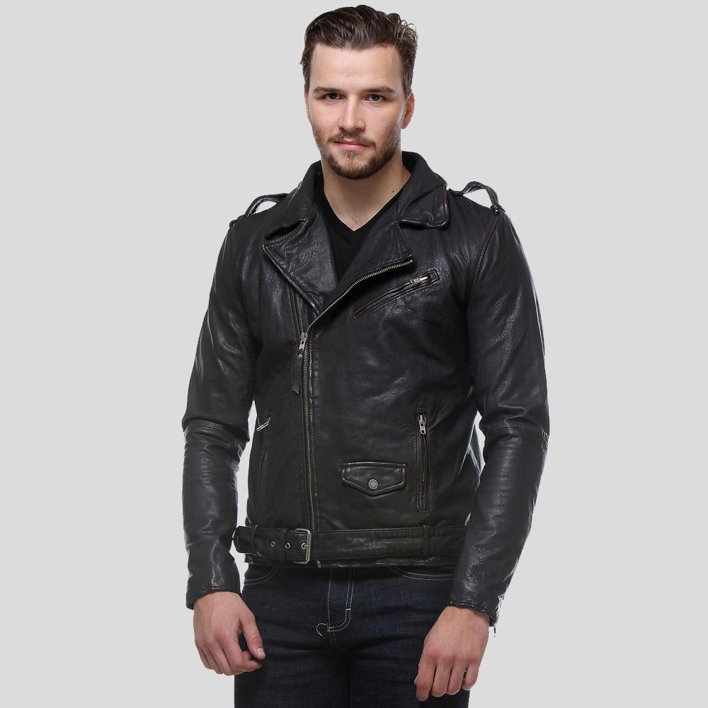 biker leather jacket black malachi 1