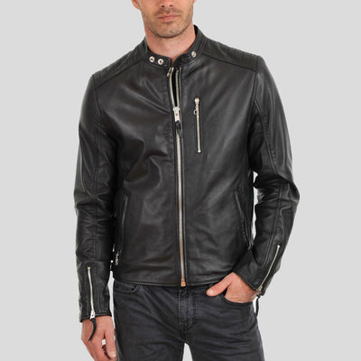 biker leather jacket braxton black 2