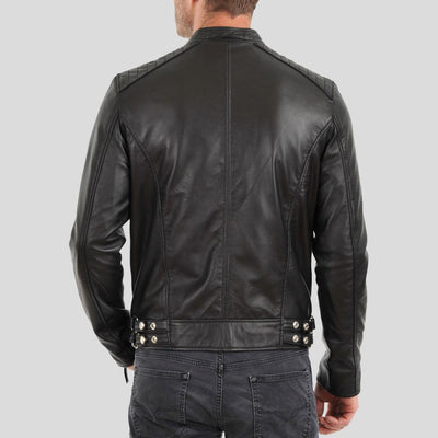 biker leather jacket braxton black 3