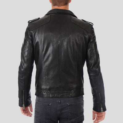 biker leather jacket charlie black 3