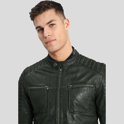 biker leather jacket emiliano black 5