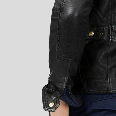 biker leather jacket giovanni black 4