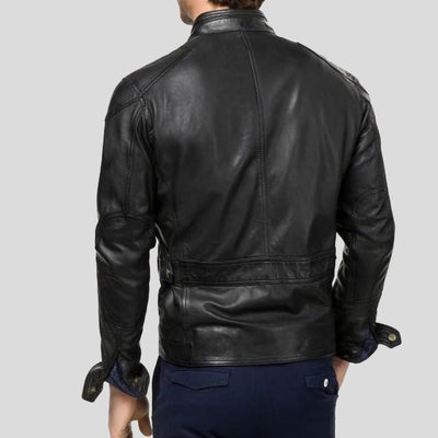 biker leather jacket giovanni black 3