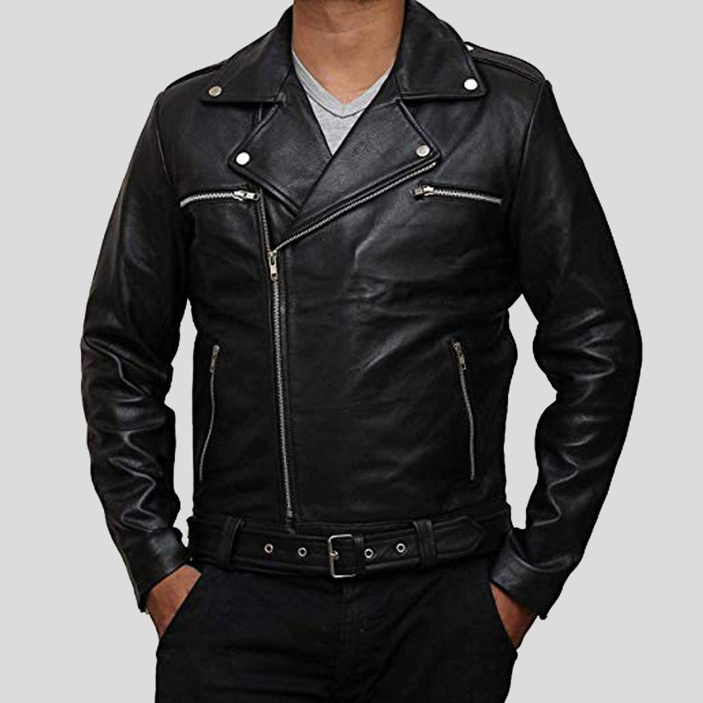 biker leather jacket henry black 1