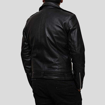 biker leather jacket henry black 3